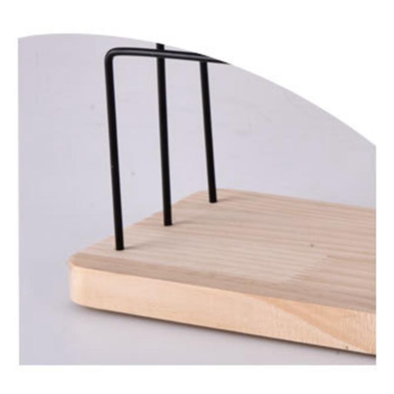 Indexbild 7 - 1X(Holzschmuck Display Stand Metall Haken Ohrringe Halskette Lagerregal N7P5)