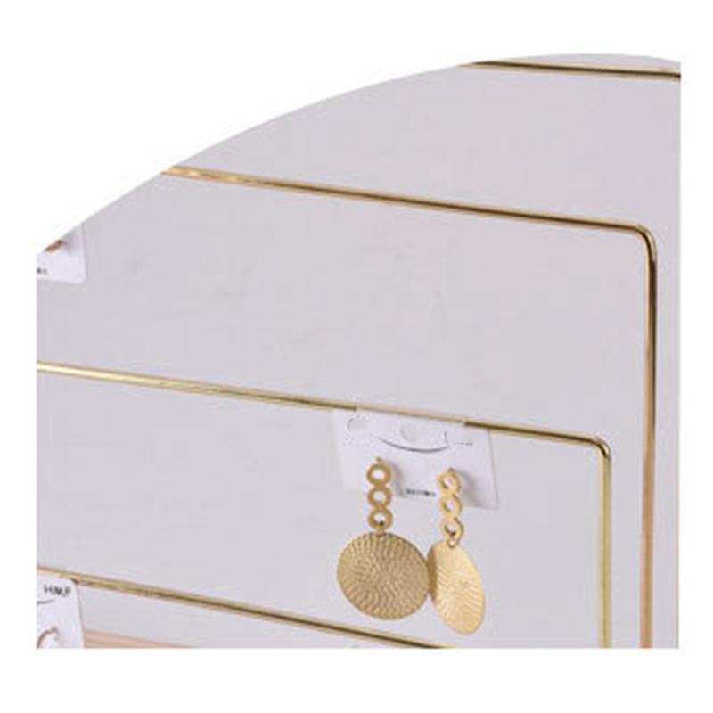 Indexbild 8 - Holzschmuck Display Stand Metall Haken Ohrringe Halskette Lagerregal B6I8