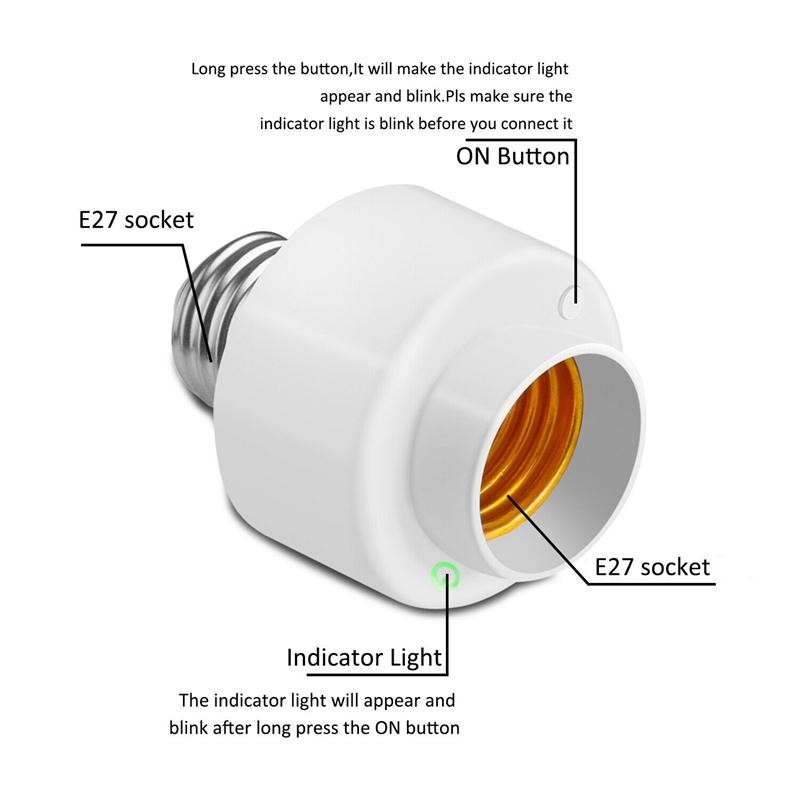 miniature 5 - Tuya-Smart-Life-Wifi-Smart-Light-Bulb-Socket-Adapter-E27-Switch-Lamp-Base-H-Y2Z1