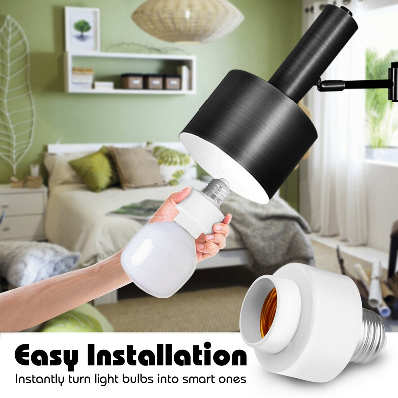 miniature 7 - Tuya-Smart-Life-Wifi-Smart-Light-Bulb-Socket-Adapter-E27-Switch-Lamp-Base-H-Y2Z1