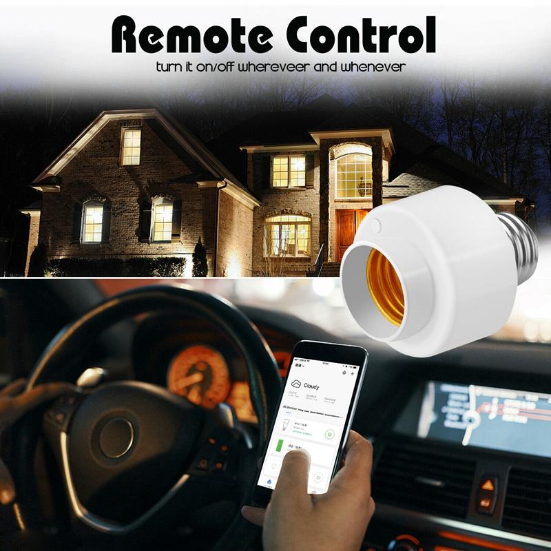 miniature 8 - Tuya-Smart-Life-Wifi-Smart-Light-Bulb-Socket-Adapter-E27-Switch-Lamp-Base-H-Y2Z1