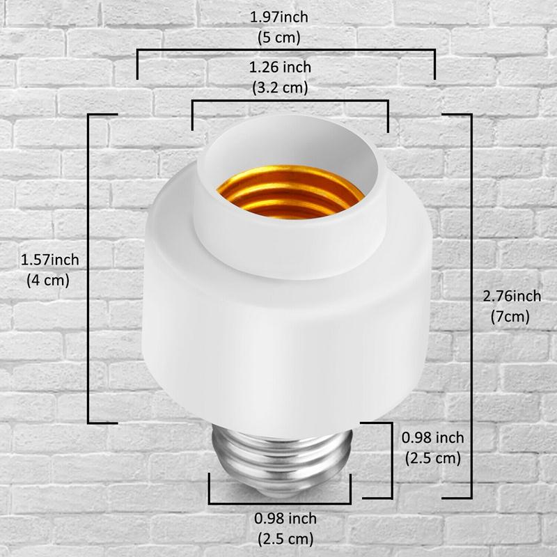 miniature 10 - Tuya-Smart-Life-Wifi-Smart-Light-Bulb-Socket-Adapter-E27-Switch-Lamp-Base-H-Y2Z1