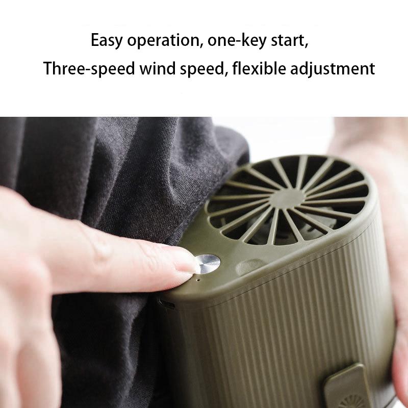Mini-Ventilador-Ventilador-Alimentado-por-USB-Ventilador-de-Cintura-Suspend-F6W7 miniatura 3
