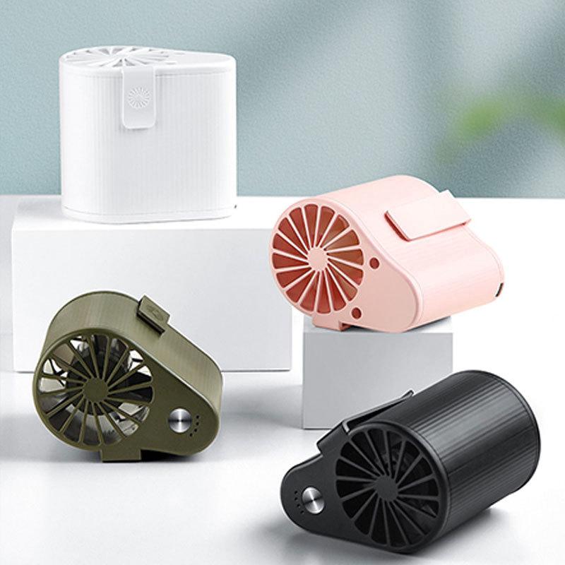 Mini-Ventilador-Ventilador-Alimentado-por-USB-Ventilador-de-Cintura-Suspend-F6W7 miniatura 5