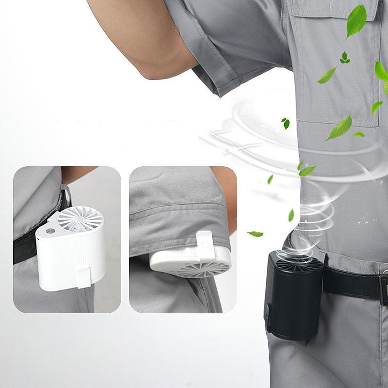 Mini-Ventilador-Ventilador-Alimentado-por-USB-Ventilador-de-Cintura-Suspend-F6W7 miniatura 6
