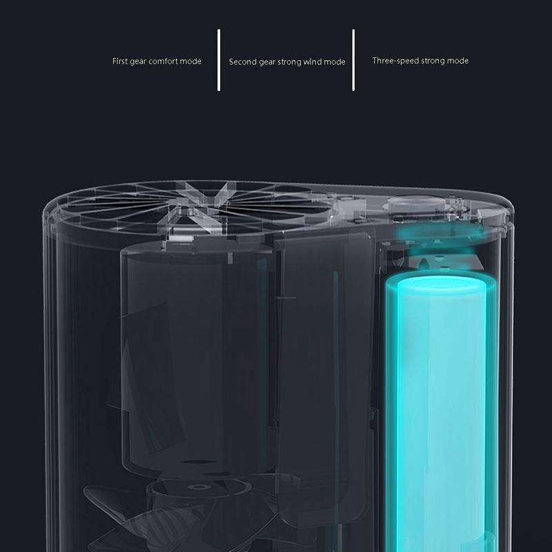Mini-Ventilador-Ventilador-Alimentado-por-USB-Ventilador-de-Cintura-Suspend-F6W7 miniatura 8