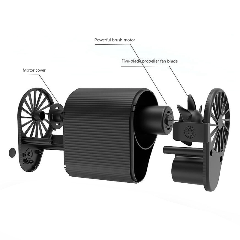 Mini-Ventilador-Ventilador-Alimentado-por-USB-Ventilador-de-Cintura-Suspend-F6W7 miniatura 11