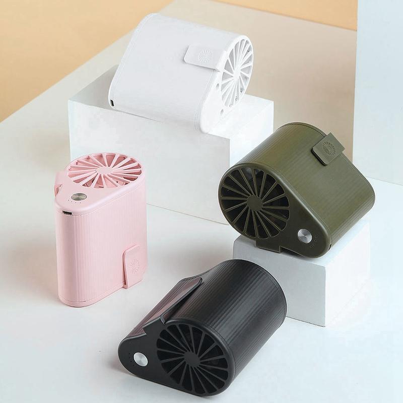 Mini-Ventilador-Ventilador-Alimentado-por-USB-Ventilador-de-Cintura-Suspend-F6W7 miniatura 22