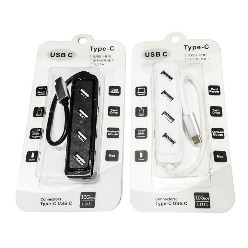 2x-USB-HUB-Station-D-039-accueil-Type-C-vers-USB-4-Port-USB-C-Hub-Pour-MacBook-Ordinateur-Portable miniature 7