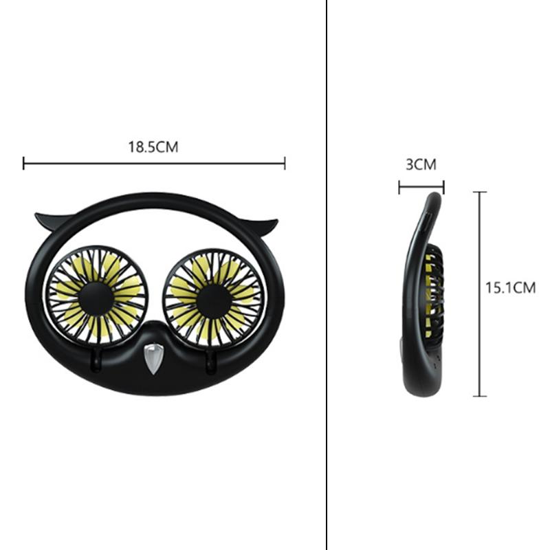 Ventilateur-Portatif-Mains-Libres-a-180-DegreS-USB-Ventilateur-de-Sport-Rec-J3H2 miniature 3