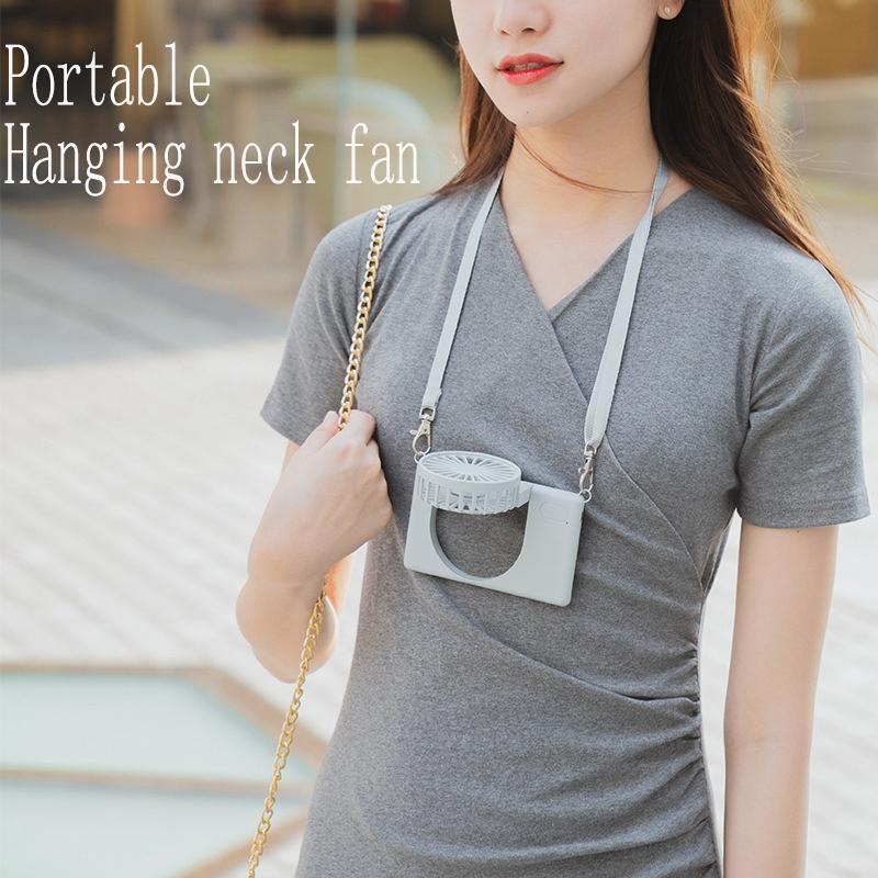 PortaTil-USB-Recargable-Mini-Ventilador-Cuello-Ventilador-PequenO-Ventilado-P6M9 miniatura 3
