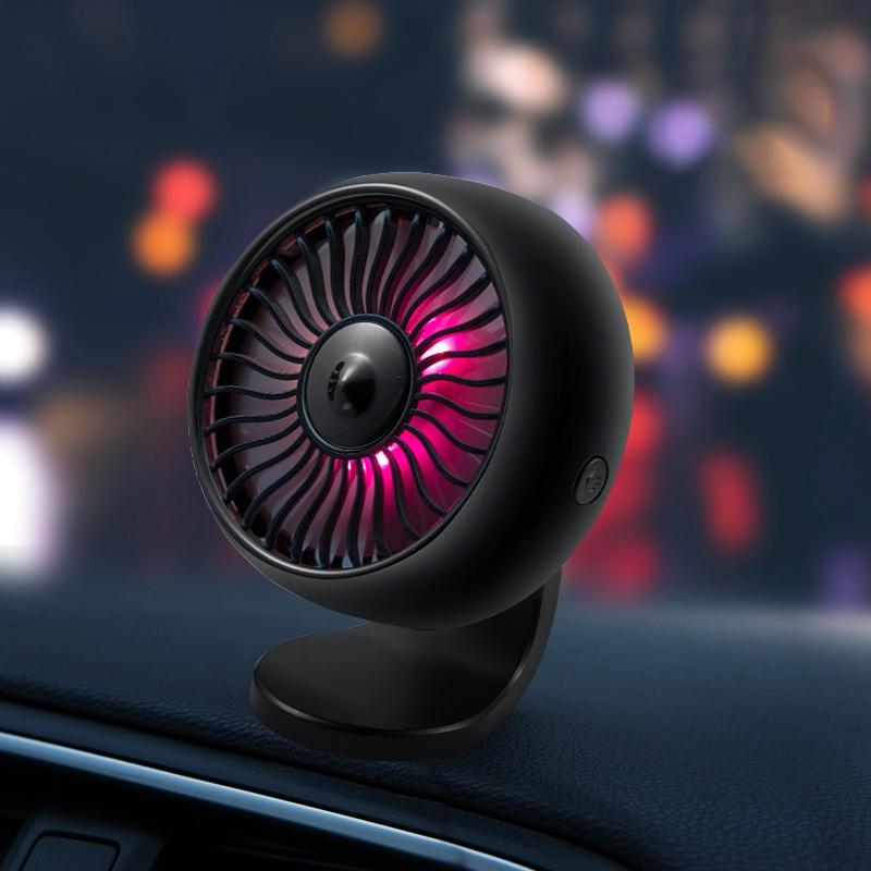 miniature 6 - 12-V-8-Cm-Ventilateur-de-Voiture-eLectrique-360-DegreS-Rotatif-3-Vitesses-Q3T1