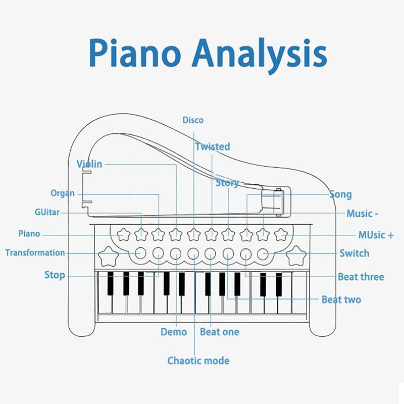 Principiante-di-Strumento-Musicale-Pianoforte-Elettronico-Multifunzionale-C-H8T7 miniatura 17