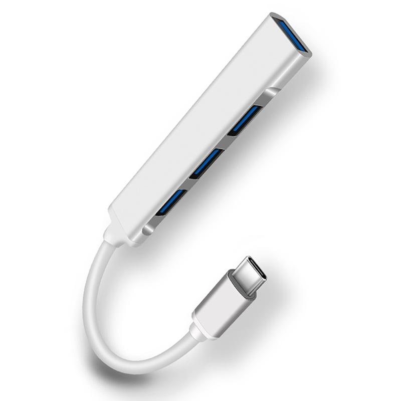 2x-typ-c3-1-Hub-Docking-Station-USB-3-0-Hub-4-en-1-pour-PC-Portable-Tablette-Tel-t6y7 miniature 2