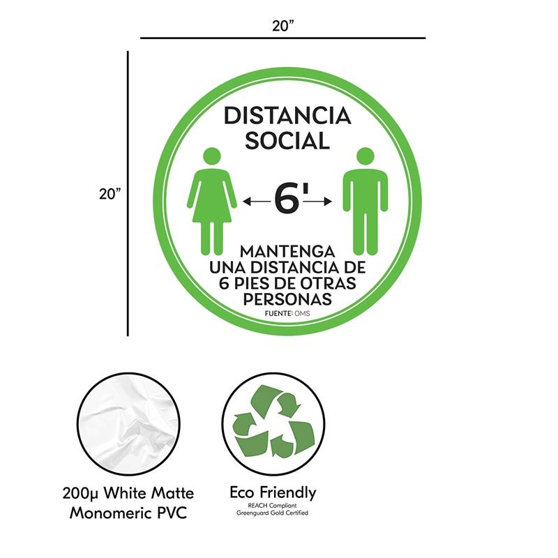 10-StueCk-Sozial-Distanzierung-FussBoden-Decals-Boden-Schild-Markierung-6-Fuss-T9X8 Indexbild 2