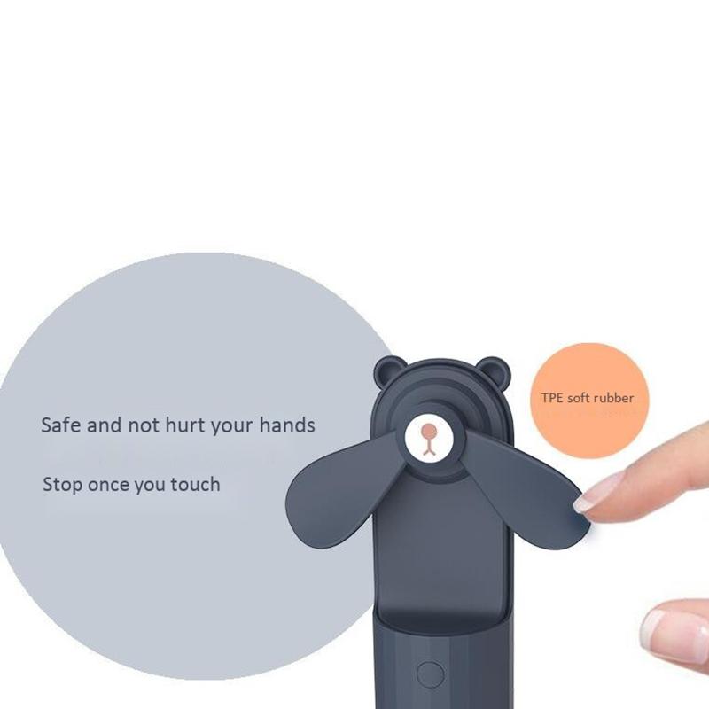 Mini-Ventiladores-PortaTiles-de-Mano-Lovely-Small-Bear-USB-Ventilador-de-Es-E9K7 miniatura 12