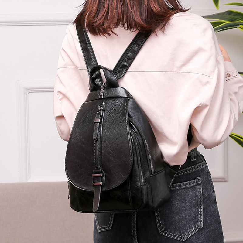 thumbnail 3 - Women-039-s-Small-Backpack-Backpack-Travel-Back-Bag-Chest-Shoulder-Bag-DiagonalX8T5