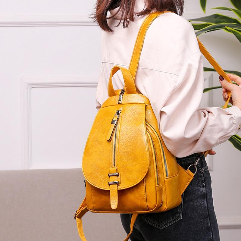 thumbnail 4 - Women-039-s-Small-Backpack-Backpack-Travel-Back-Bag-Chest-Shoulder-Bag-DiagonalX8T5