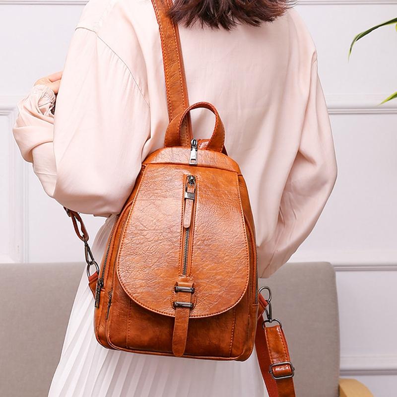 thumbnail 5 - Women-039-s-Small-Backpack-Backpack-Travel-Back-Bag-Chest-Shoulder-Bag-DiagonalX8T5