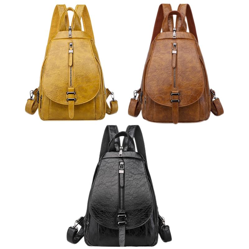 thumbnail 9 - Women-039-s-Small-Backpack-Backpack-Travel-Back-Bag-Chest-Shoulder-Bag-DiagonalX8T5