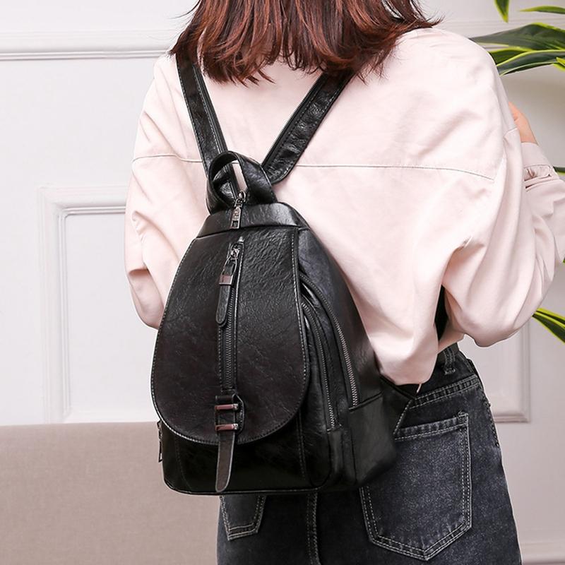 thumbnail 12 - Women-039-s-Small-Backpack-Backpack-Travel-Back-Bag-Chest-Shoulder-Bag-DiagonalX8T5