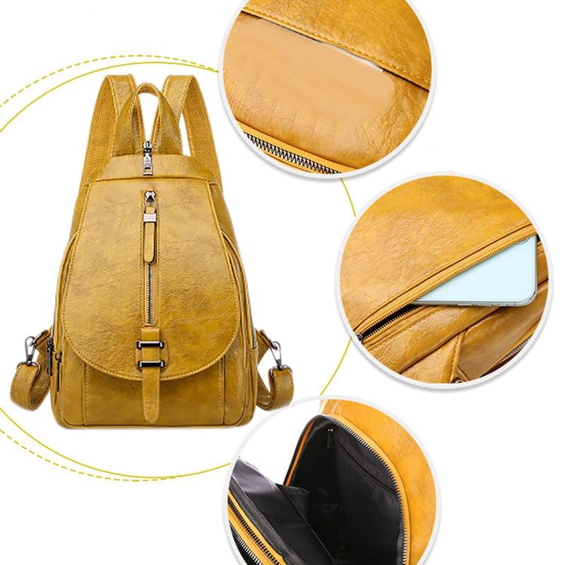 thumbnail 24 - Women-039-s-Small-Backpack-Backpack-Travel-Back-Bag-Chest-Shoulder-Bag-DiagonalX8T5