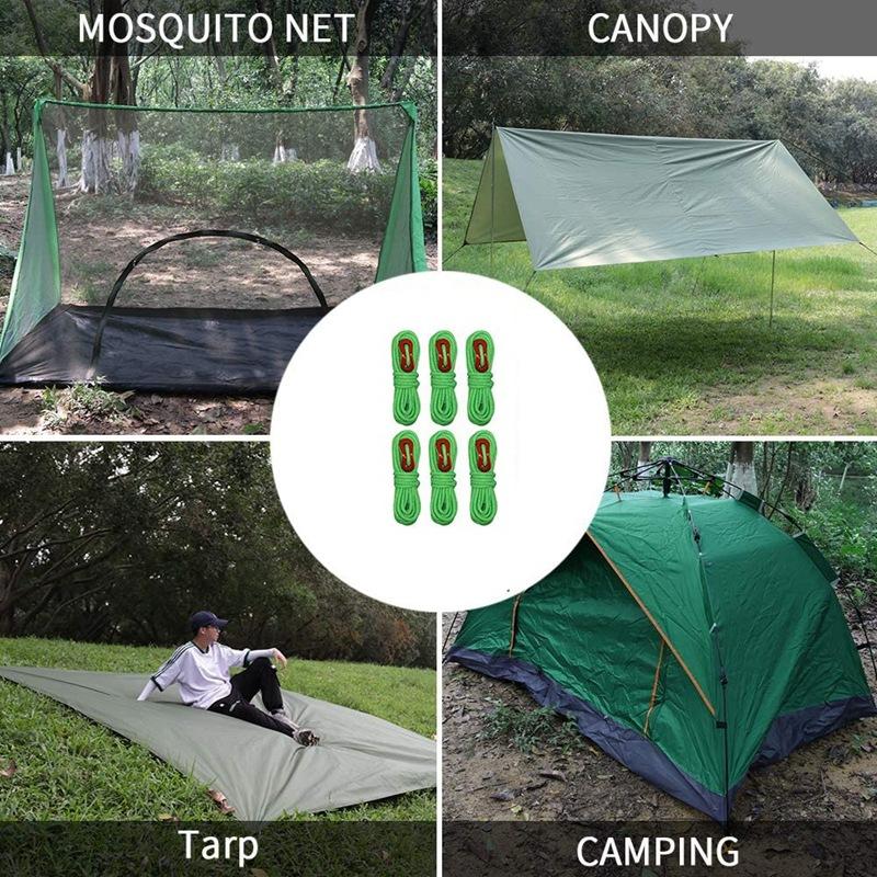 lAuvent 4 Pi/èces Cordes pour Tente R/éfl/échissante Corde de Tente R/éfl/échissante La Randonn/ée avec R/églage Etc La Tente Il Est Tr/ès Appropri/é pour Le Camping en Plein Air