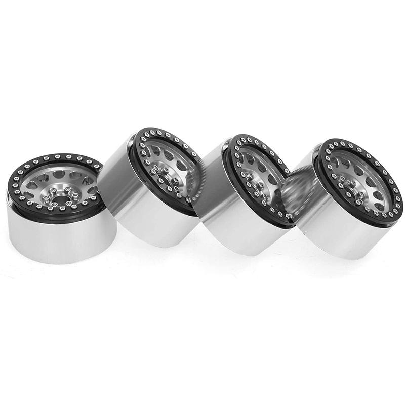 4PCS-1-10-RC-Rock-Crawler-Aluminium-2-2-Beadlock-Felgen-fuer-Axial-SCX10-Cap-C9W3 Indexbild 10