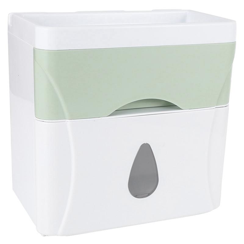 1X-Distributore-Di-Carta-Igienica-Portarotolo-Di-Carta-Igienica-Portarotolo-W5L6 miniatura 3