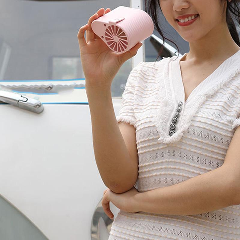 miniature 4 - 1X-Taille-Suspendue-Portable-Mini-Ventilateur-Refroidisseur-USB-pour-Bureau-L3F7