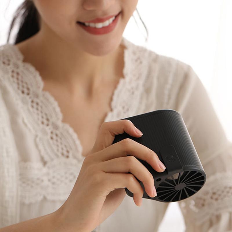miniature 17 - 1X-Taille-Suspendue-Portable-Mini-Ventilateur-Refroidisseur-USB-pour-Bureau-L3F7