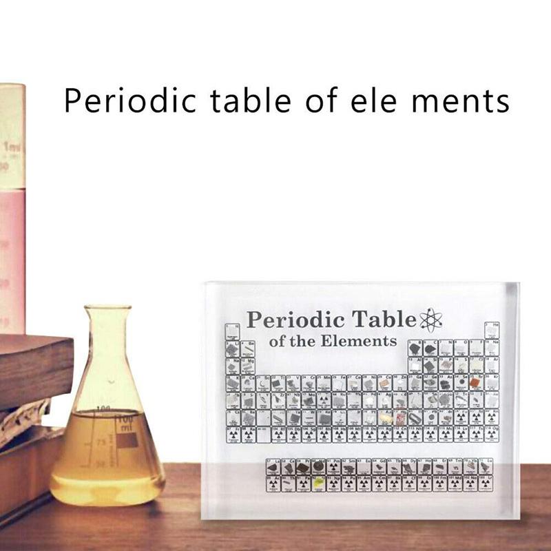 Acryl Perioden System Anzeige mit Echten Elementen Kinder Unterrichten Schul VY7