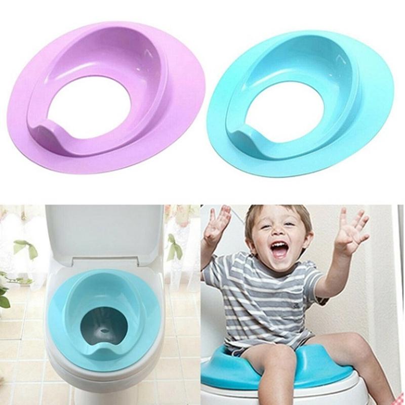 thumbnail 17 - 1X(Baby Toilet Potty Training Seat Kids Potty Seat Pad Non-Slip Splash Guar W6S8