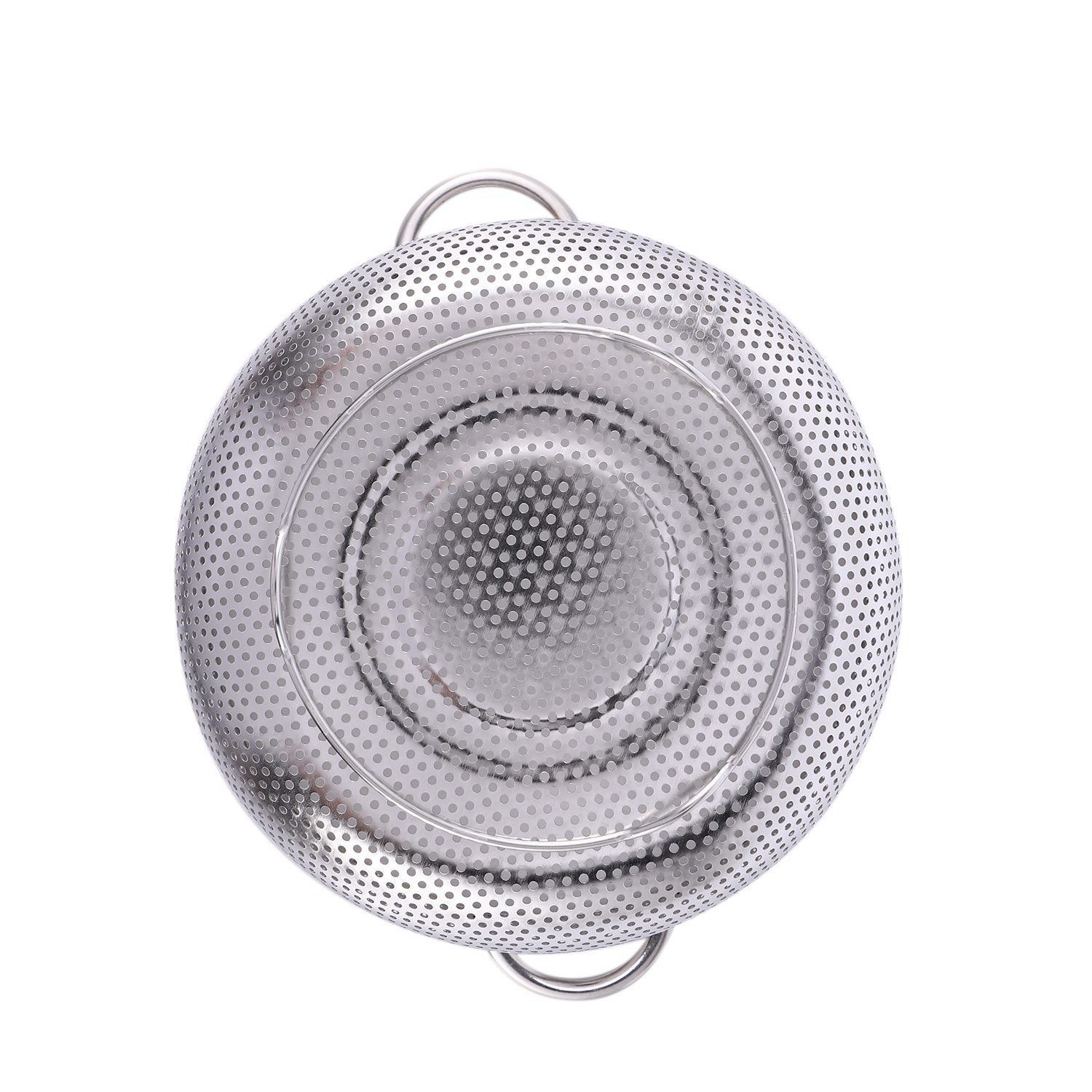 thumbnail 3 - Stainless Steel Colanders With Handle,Colander Perforated Strainer For Kitc D1Z4