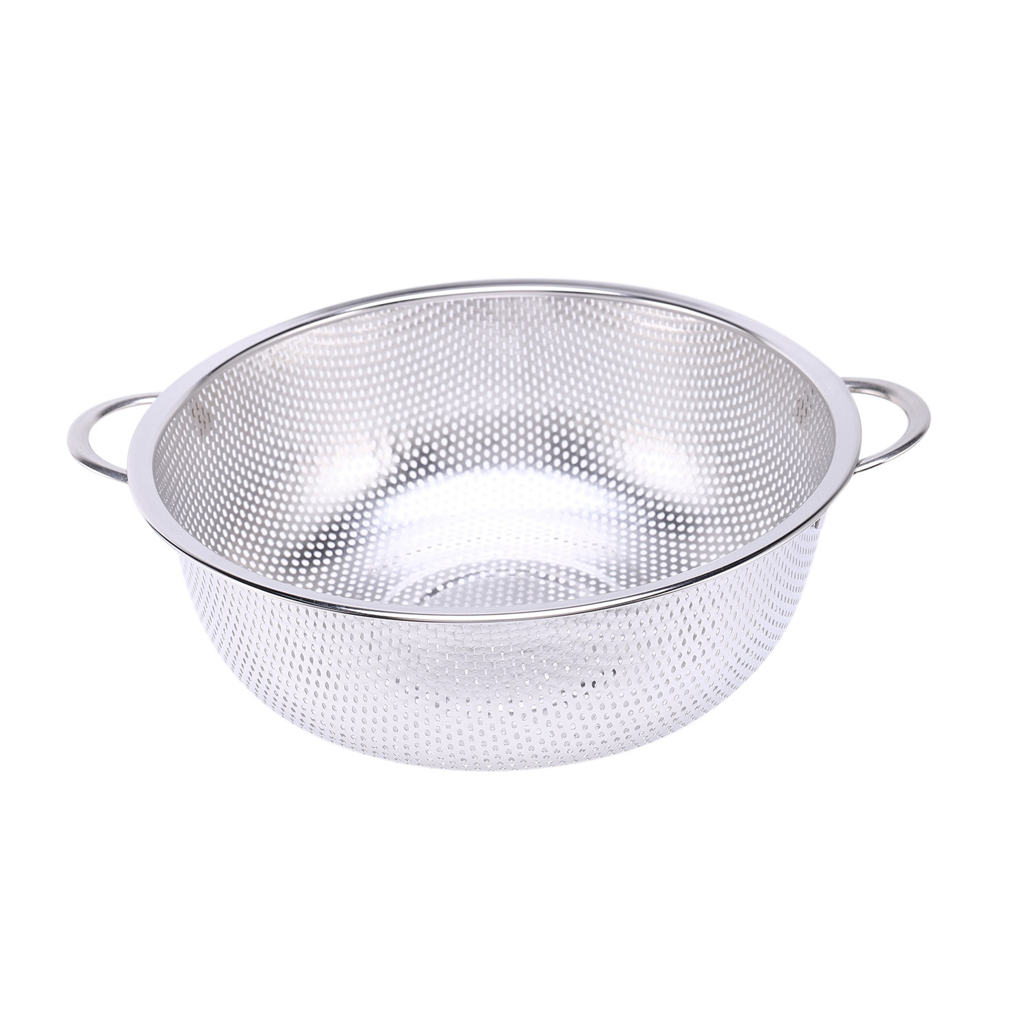 thumbnail 8 - Stainless Steel Colanders With Handle,Colander Perforated Strainer For Kitc D1Z4