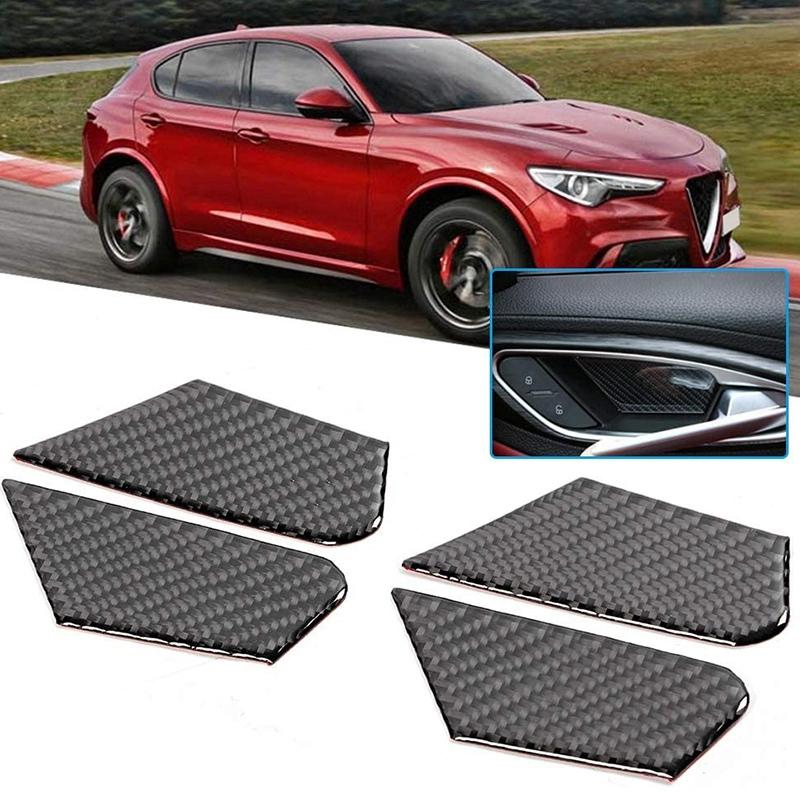 Indexbild 2 - Kohle Faser Innen TüR Schalen Abdeckung Auto ZubehöR Kompatibel mit Alfa Ro V5I5