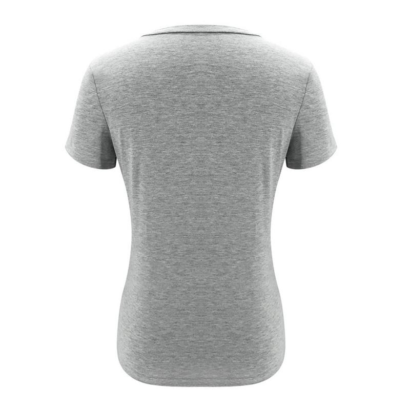 miniature 6 - T-Shirt DéContracté à Manches Courtes et Col en V pour Femmes L6T9
