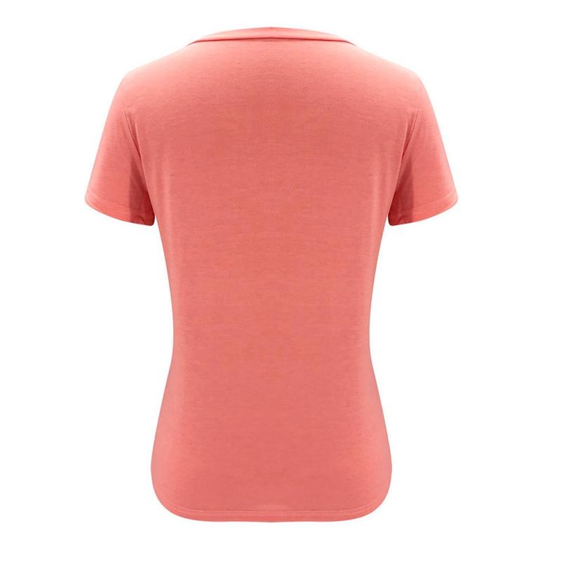 miniature 20 - T-Shirt DéContracté à Manches Courtes et Col en V pour Femmes L6T9