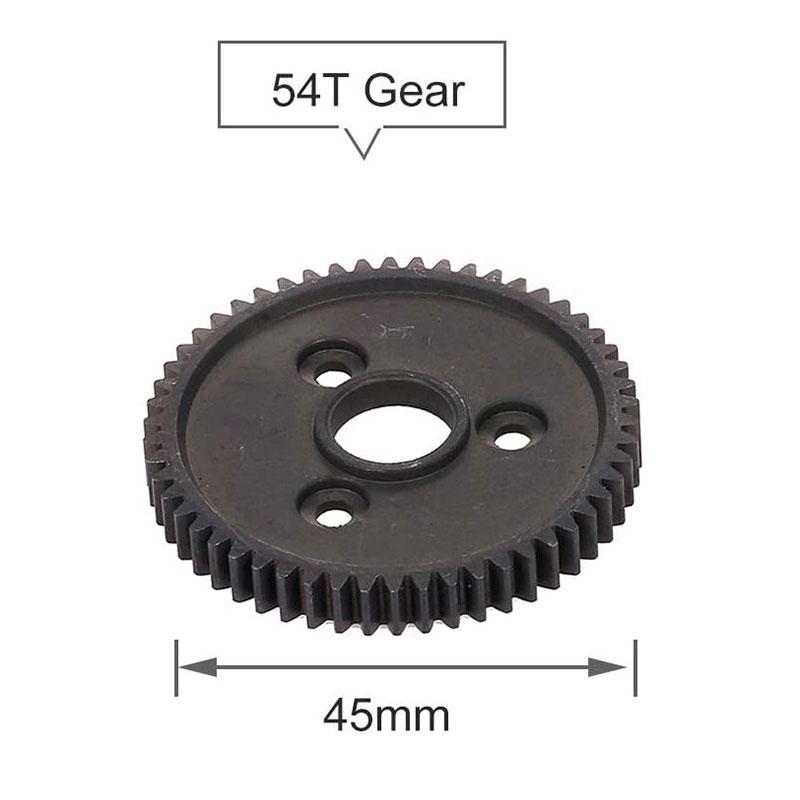 Hardened Steel Metal Spur Gear 54T 32P 3956 for RC 1//10 Traxxas Slash 4X4 S Y8F9