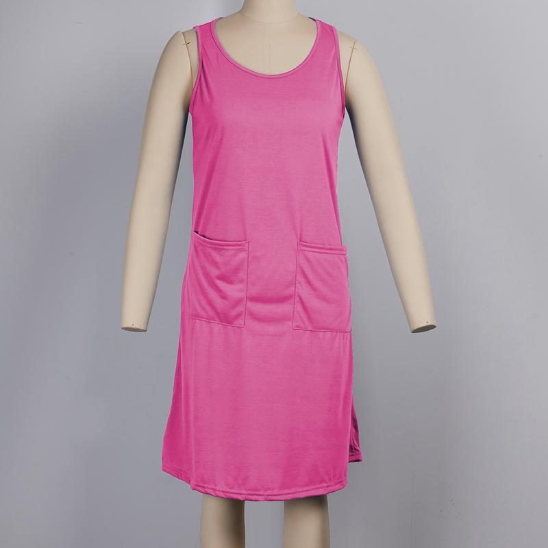 miniature 14 - 1X-Robe-D-039-eTe-Sans-Manches-DeContracteE-Sans-Manches-pour-Femmes-I7C4