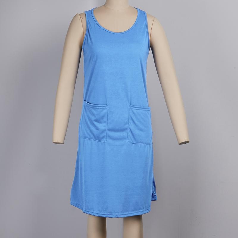 miniature 24 - 1X-Robe-D-039-eTe-Sans-Manches-DeContracteE-Sans-Manches-pour-Femmes-I7C4