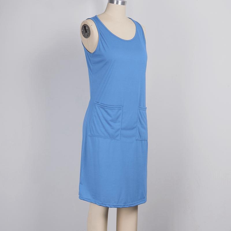 miniature 25 - 1X-Robe-D-039-eTe-Sans-Manches-DeContracteE-Sans-Manches-pour-Femmes-I7C4