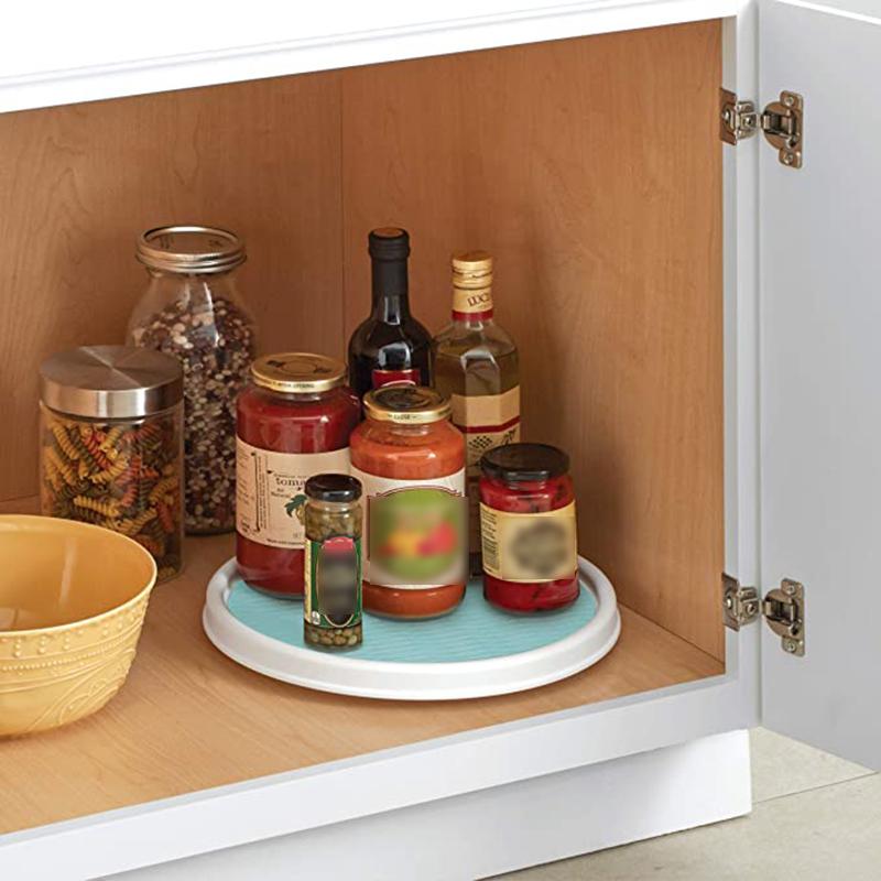 non-slip cabinet lazy turntable plastic kitchen condiment