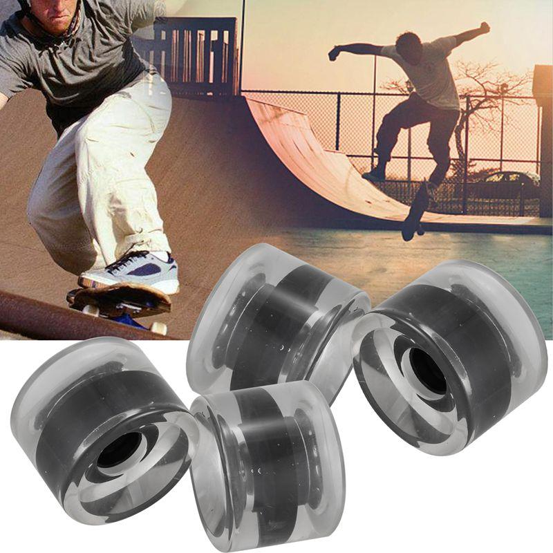 miniatura 3 - 4 Piezas en Blanco Longboard Cruiser Skateboard Wheels 70X51Mm 80A Parts J8X6