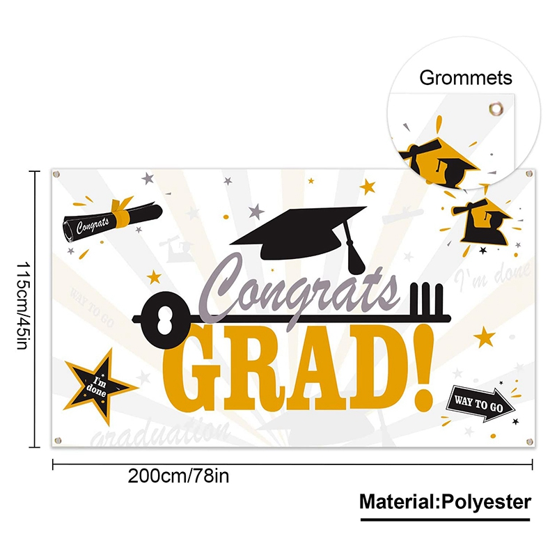 2x Large Fabric Graduation Party Banner For Graduation Party Supplies 2020 P5h7 Ebay