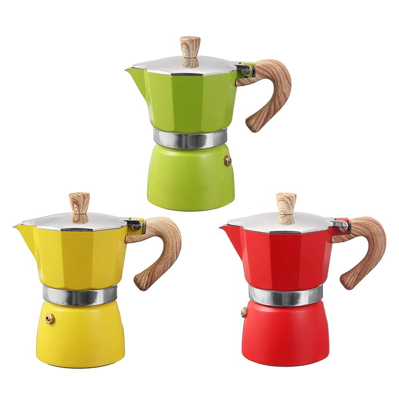 miniature 4 - Aluminium-Moka-Espresso-Machine-a-Cafe-Filtre-Poele-Poele-Pot-3-Tasses-C6L9
