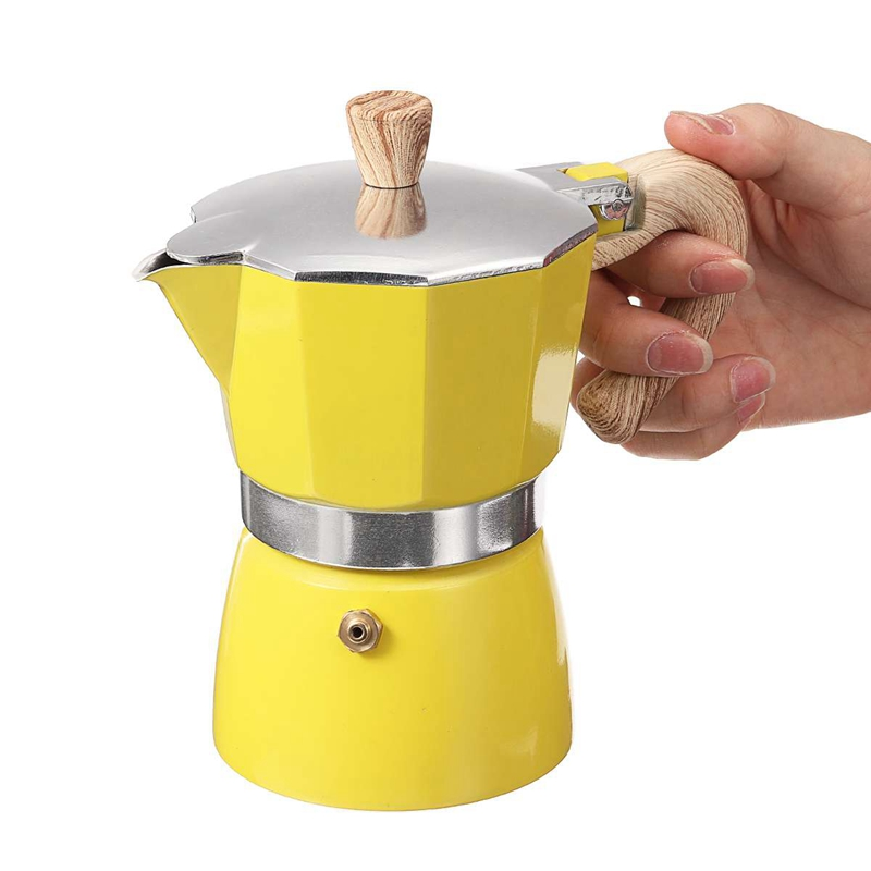 miniature 5 - Aluminium-Moka-Espresso-Machine-a-Cafe-Filtre-Poele-Poele-Pot-3-Tasses-C6L9
