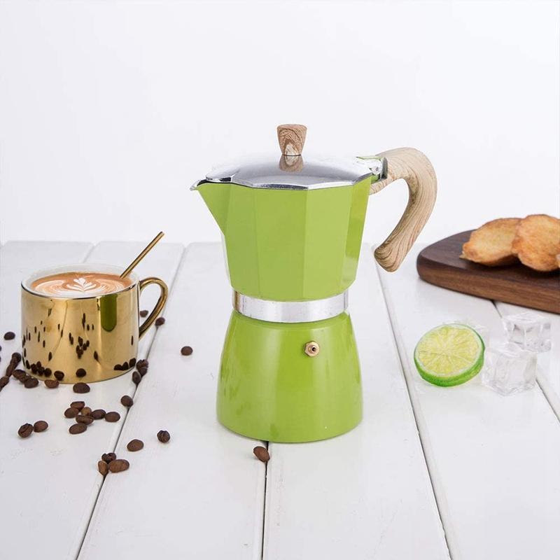 miniature 7 - Aluminium-Moka-Espresso-Machine-a-Cafe-Filtre-Poele-Poele-Pot-3-Tasses-C6L9