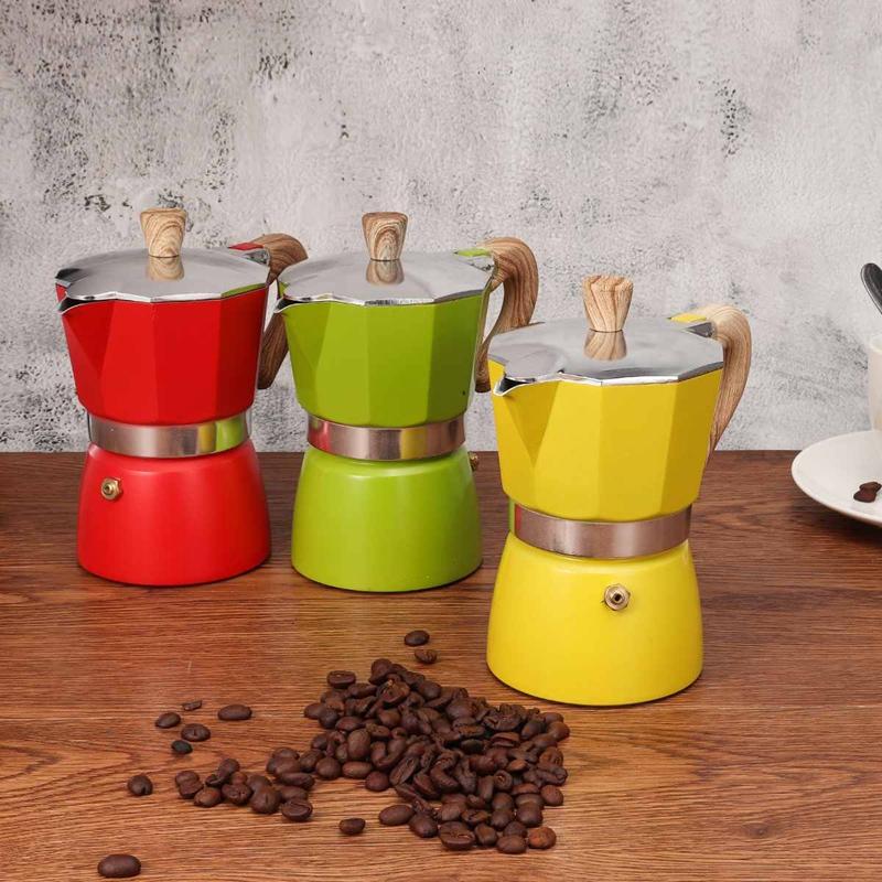 miniature 9 - Aluminium-Moka-Espresso-Machine-a-Cafe-Filtre-Poele-Poele-Pot-3-Tasses-C6L9