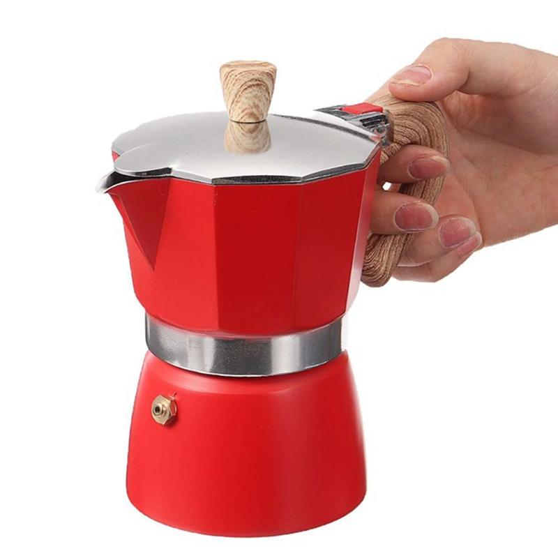 miniature 11 - Aluminium-Moka-Espresso-Machine-a-Cafe-Filtre-Poele-Poele-Pot-3-Tasses-C6L9